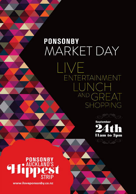 Ponsonby Market Day Poster Flyer - 24 September 2011